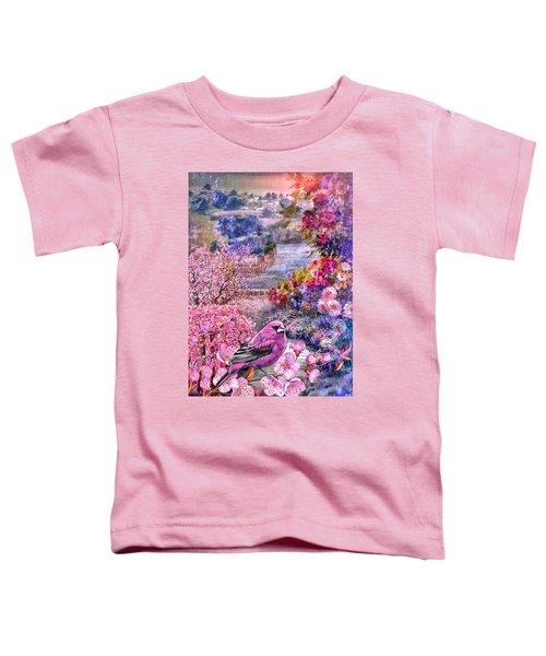 Floral Embedded Toddler T-Shirt