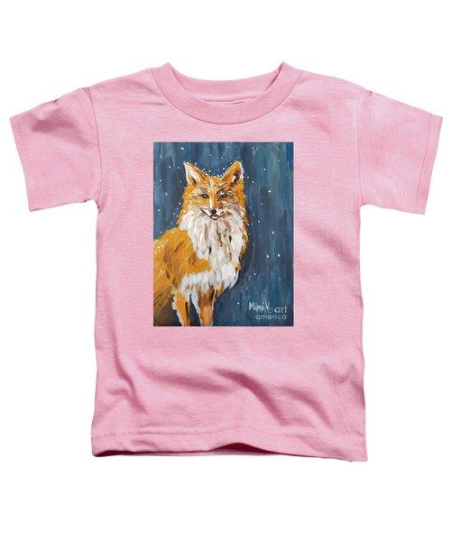 Fox Winter Night Toddler T-Shirt