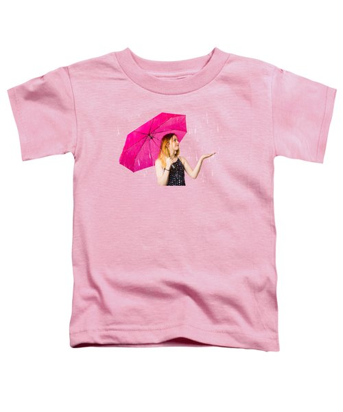 Girl Feeling The Rain When Living In The Moment Toddler T-Shirt