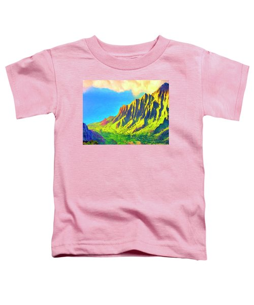 Golden Kalalau Sunset Toddler T-Shirt