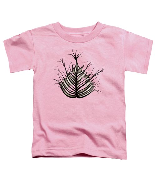 Hairy Leaf Abstract Art In Sepia Toddler T-Shirt