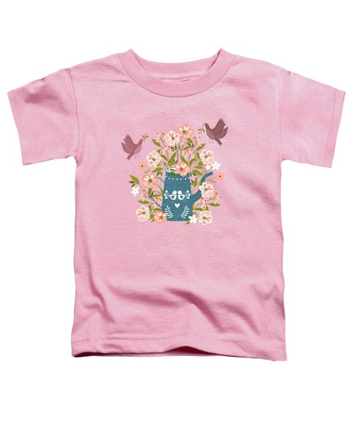 Happy Birds Making Things Beautiful Together Toddler T-Shirt