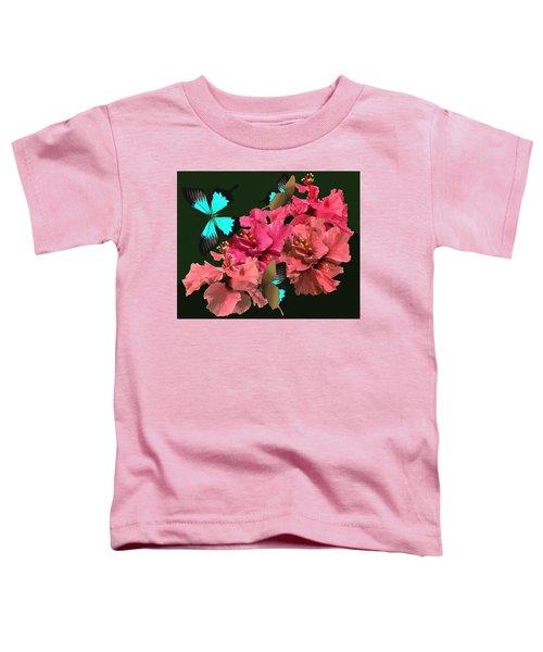 Hibiscus Butterfly Joy Toddler T-Shirt