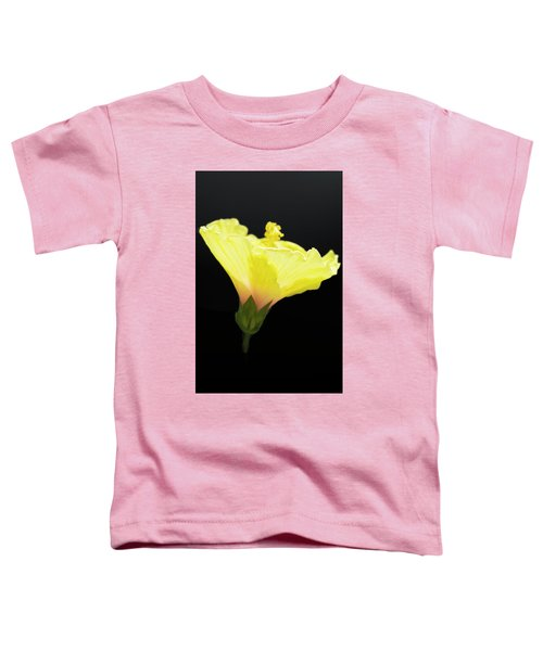 Hibiscus In Black Toddler T-Shirt