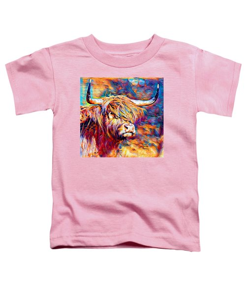 Highland Cow 6 Toddler T-Shirt