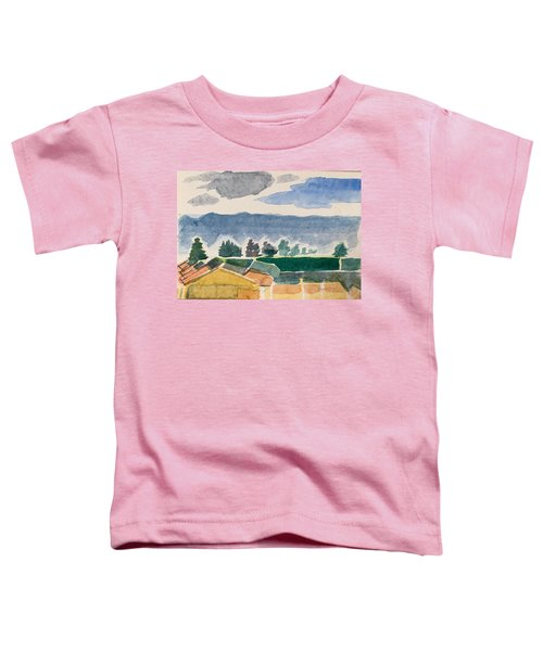 Houses, Trees, Mountains, Clouds Toddler T-Shirt