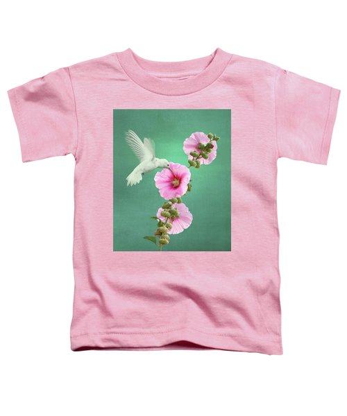 Hummingbird And Malva Wildflower Toddler T-Shirt