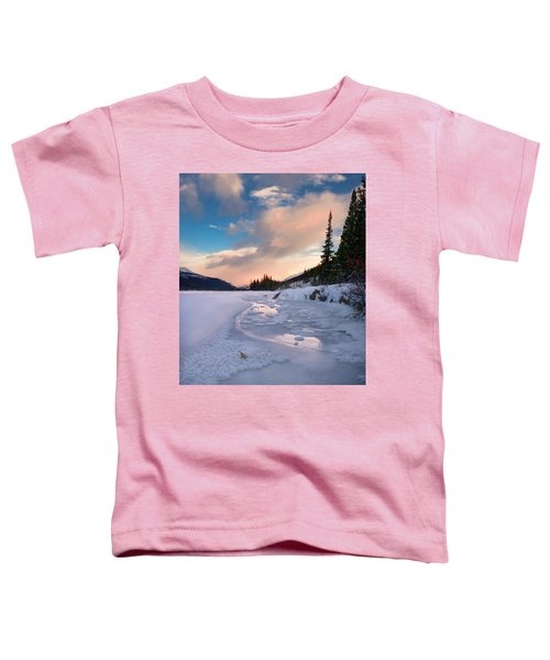 Icefields Parkway Winter Morning Toddler T-Shirt