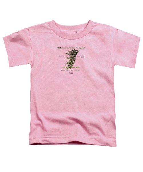 Incense Cedar - Brpwn Text Toddler T-Shirt