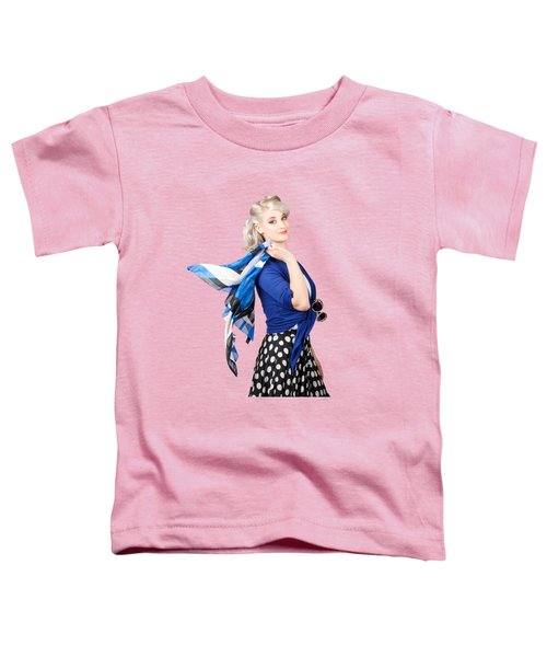 Isolated Caucasian Woman With Pinup Fashion Style Toddler T-Shirt