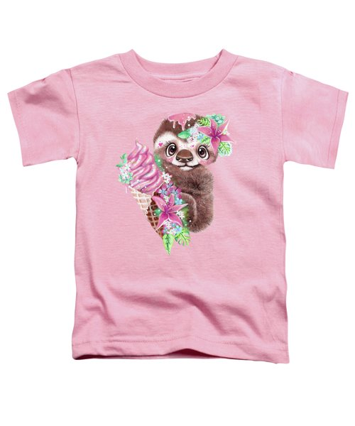 Just Chilln Sloth  Toddler T-Shirt