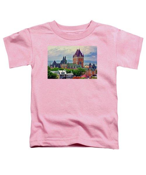 Le Chateau Frontenac Toddler T-Shirt
