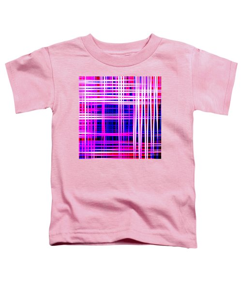 lines and squares in purple Color Waves - PL414 Toddler T-Shirt