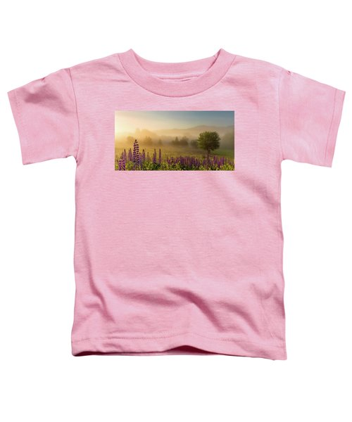 Lupine In The Fog, Sugar Hill, Nh Toddler T-Shirt