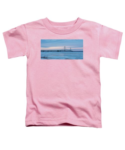 Mackinac Bridge In Ice 2161803 Toddler T-Shirt