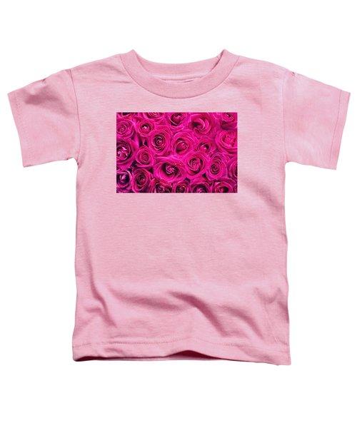 Magenta Roses Toddler T-Shirt