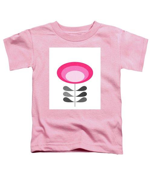 Mid Century Modern Oval Flower  Toddler T-Shirt