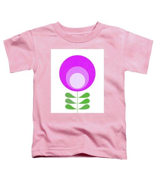 Mid Century Modern Purple Flower 3 Toddler T-Shirt