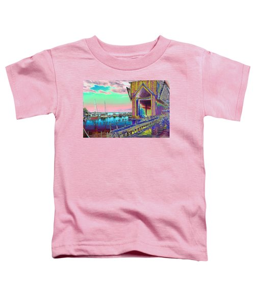 Morning Pink Marquette Ore Dock Toddler T-Shirt