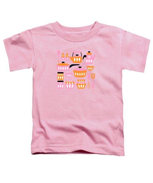 My Midcentury Modern Kitchen In Pink And Tangerine Toddler T-Shirt