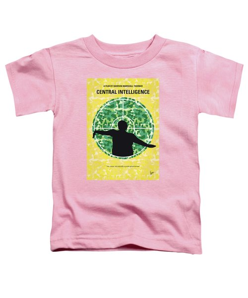 No1049 My Central Intelligence Minimal Movie Poster Toddler T-Shirt