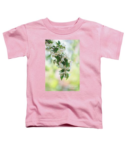 Painted Crabapple Blossom Cascade Toddler T-Shirt