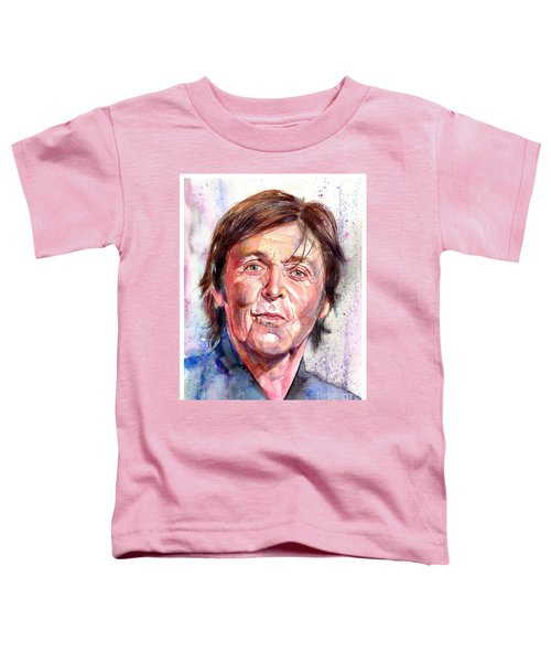 Paul Mccartney Watercolor Toddler T-Shirt