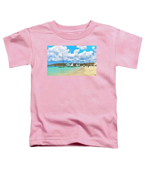 Picture Perfect Day For Sailing In Anguilla Toddler T-Shirt