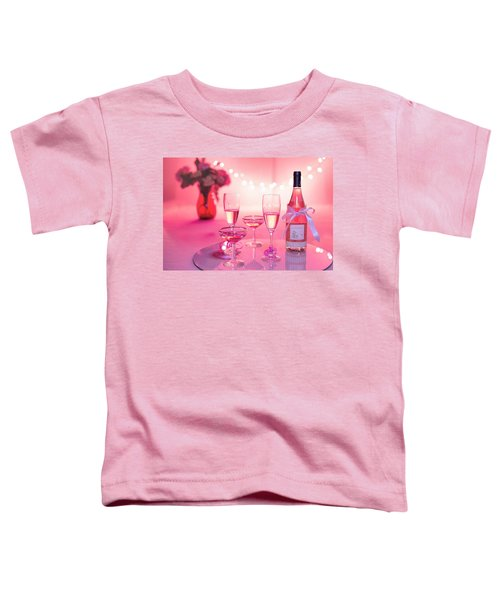 Pink Champagne Toddler T-Shirt