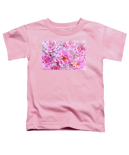 Pink Flowers Everywhere Toddler T-Shirt