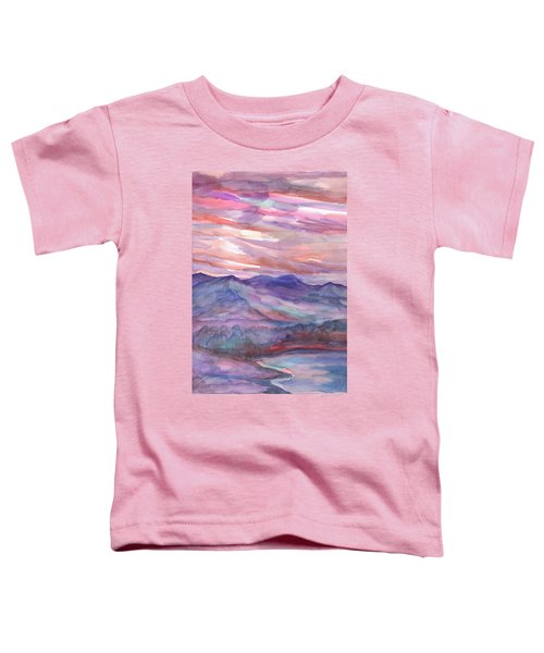 Pink Mountain Landscape Toddler T-Shirt