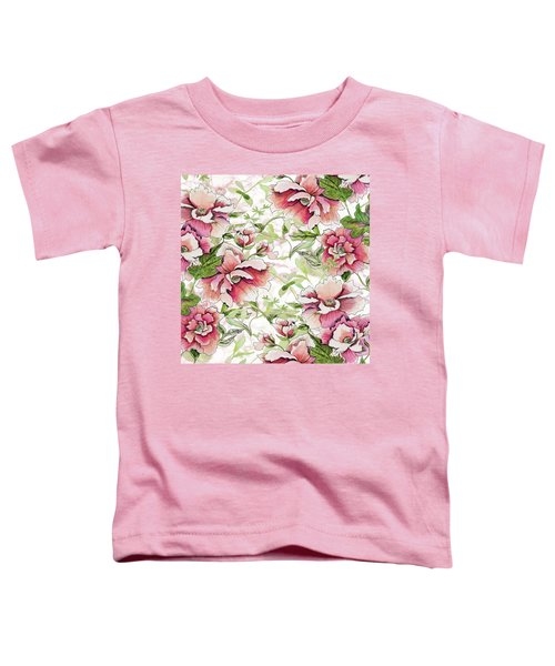 Pink Peony Blossoms Toddler T-Shirt