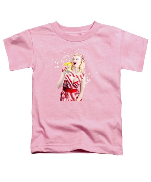 Pinup Cinema Girl At Box Office Movie Premiere Toddler T-Shirt