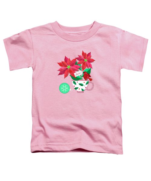 Poinsettia In Christmas Cup Toddler T-Shirt