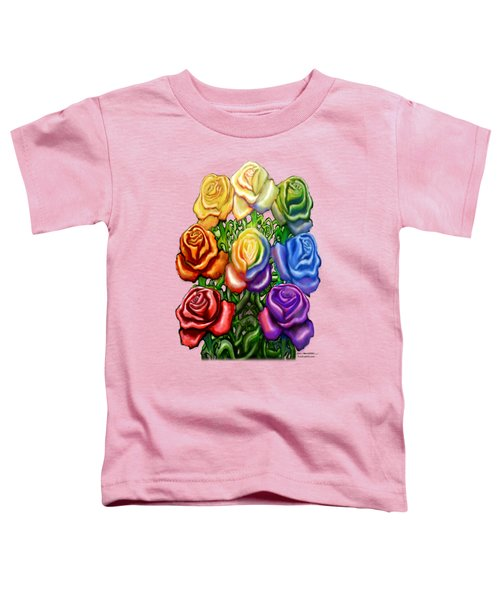 Rainbow Of Roses Toddler T-Shirt
