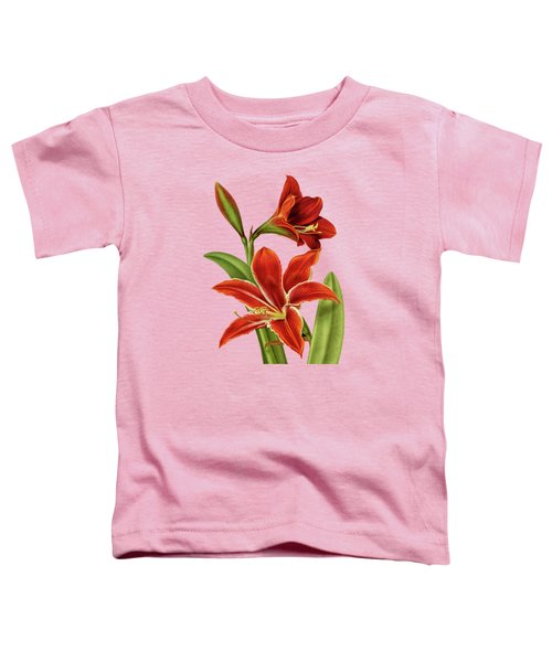 Red Christmas Lily Toddler T-Shirt