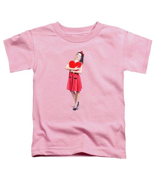 Red Heart Woman Toddler T-Shirt