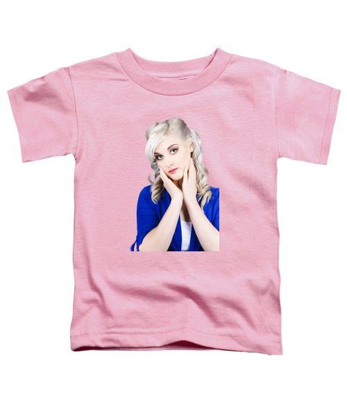 Retro Pin-up Woman With Beautiful Face Toddler T-Shirt