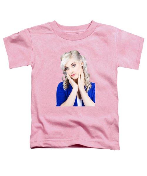 Retro Pin-up Woman With Beautiful Face Toddler T-Shirt