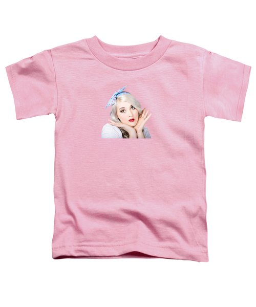 Retro Style Portrait Of A Blond Girl Toddler T-Shirt