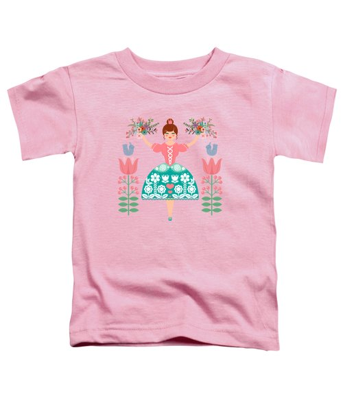 Scandinavian Flower Princess Toddler T-Shirt