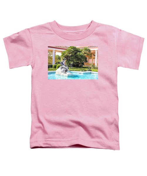 Sculptured Pool Side Getty Villa Toddler T-Shirt