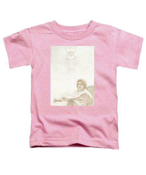 Seated Female Nude With Ghostly Female Figure In The Background, 1897 Toddler T-Shirt