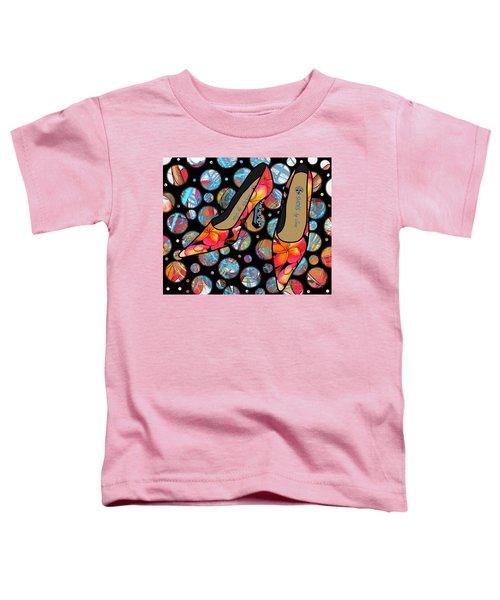 Shoes By Joan - Frangipani Pattern Pumps Toddler T-Shirt