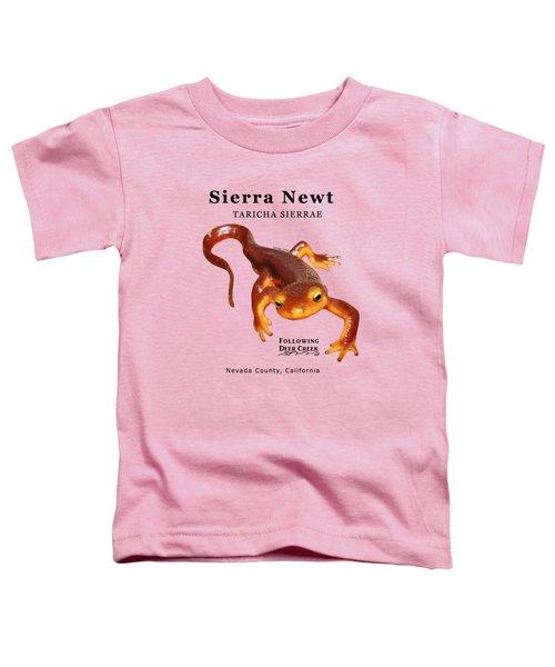 Sierra Newt - Black Text Toddler T-Shirt