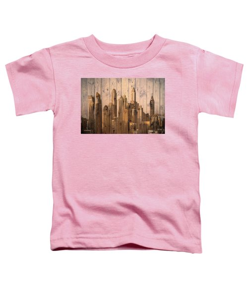 Skyline Of Dubai, Uae On Wood Toddler T-Shirt