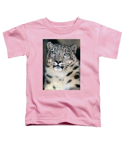 Snow Leopard Portrait Endangered Species Wildlife Rescue Toddler T-Shirt