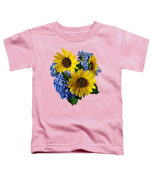 Sunflowers And Hydrangeas Toddler T-Shirt