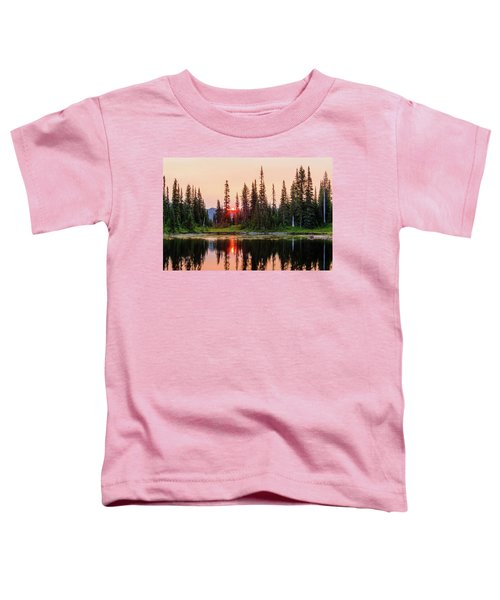 Sunrise From The Reflection Lake Toddler T-Shirt