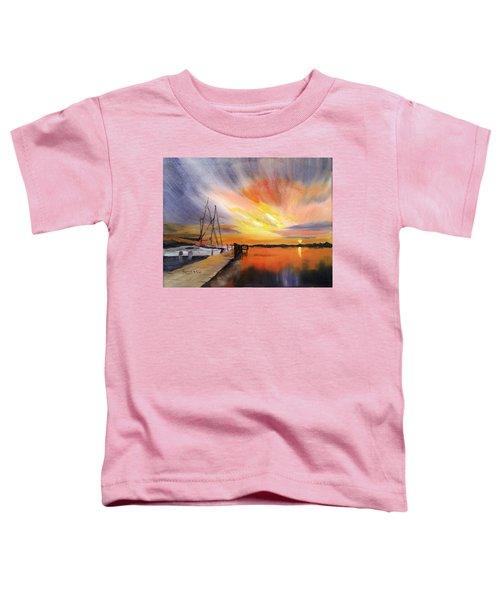 Sunset Harbor Toddler T-Shirt